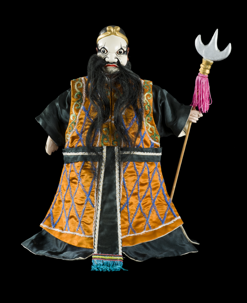 Figura 3, burattino della Collezione Signorelli, raffigurante Sha Wujing, Monaco Sabbioso, seconda metà del XX sec. © Primangeli