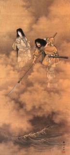 th-Izanagi e Izanami - dipinto di Kobayashi Eitaku